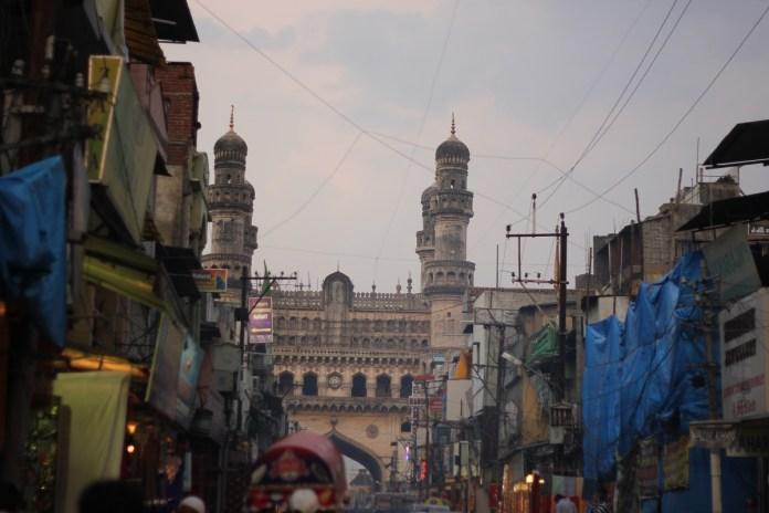 Bustling lanes of Hyderabad