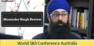 monider Singh World Sikh COnference Australia