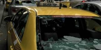 taxi smashed cricket bat