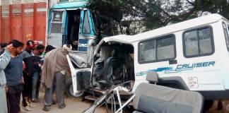 Fazilka truck van accident