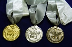 Top finishers' medal
