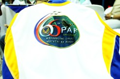 66th PAF Anniversary logo, imprinted on race singlet.