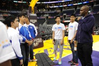 LA Lakers Jodie Meeks with Jr NBA All Star Team