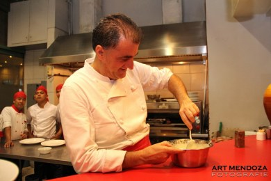 Chef Giorgio Matera preparing our meals.