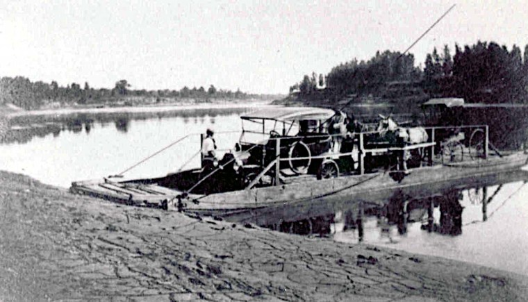 Ferry at Millers Bluff East of Hosston at the Red River.