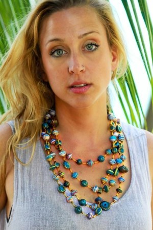 fair trade Papillon jewelry hait