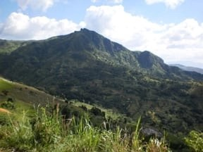 Haiti's barren mountains have a long way to recovery.