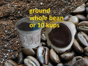 medium dark ground bean kups