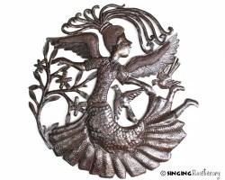 Angel, Haitian art, recycled metal