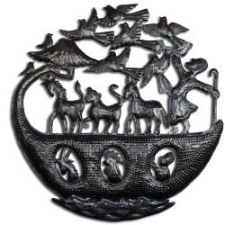 Noah's Ark Haitian art, recycled metal