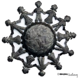 Children of the World, metal art from Haiti.
