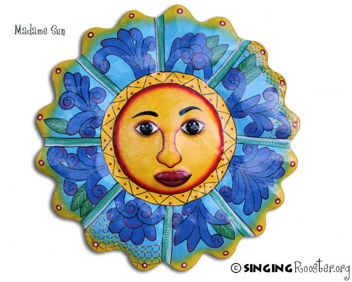 Madame sun Metal Wall Art