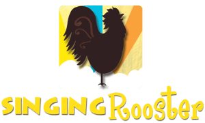 Singing Rooster Haiti coffee chocolate art