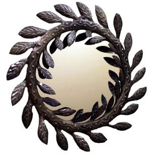 Metal Vine Wall Mirror, Haiti