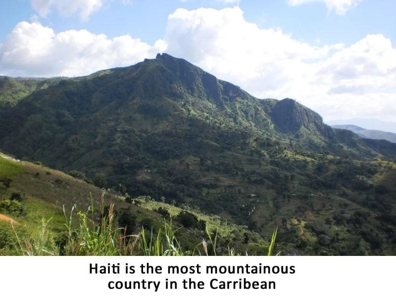 Haiti most mountainous nation in Caribbean