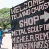haitian art johnson sign