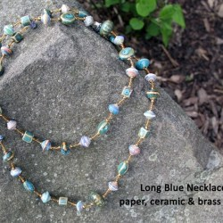 blue necklace, Fair trade jewelry, Haiti