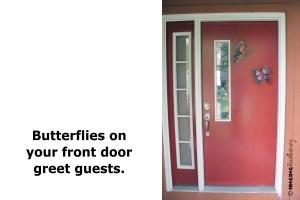 butterfly art front door