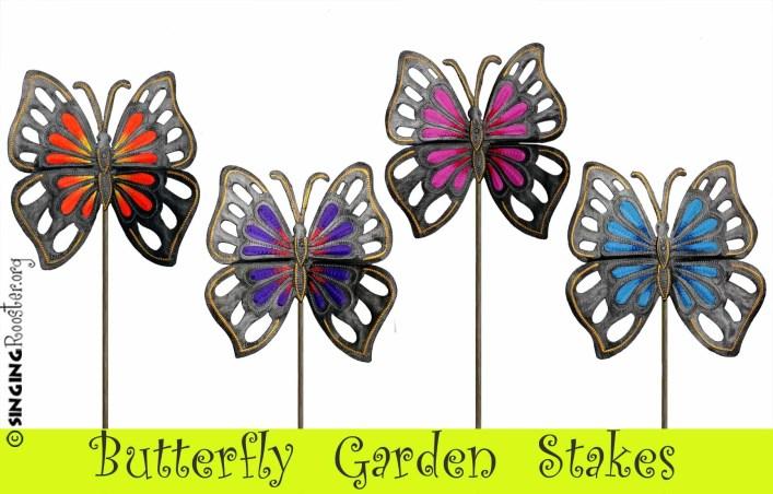 buy butterfly garden stake online