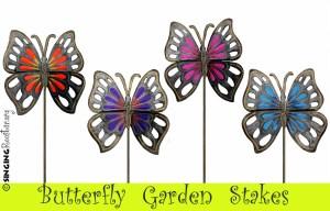 Handmade butterfly garden stake from Haiti