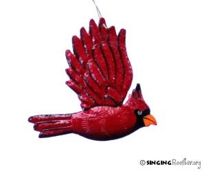 cardinal bird christmas ornament