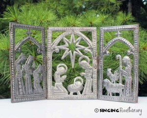christmas nativity gift, Haitian art