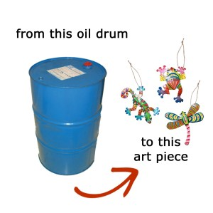 oil drum art, Haiti