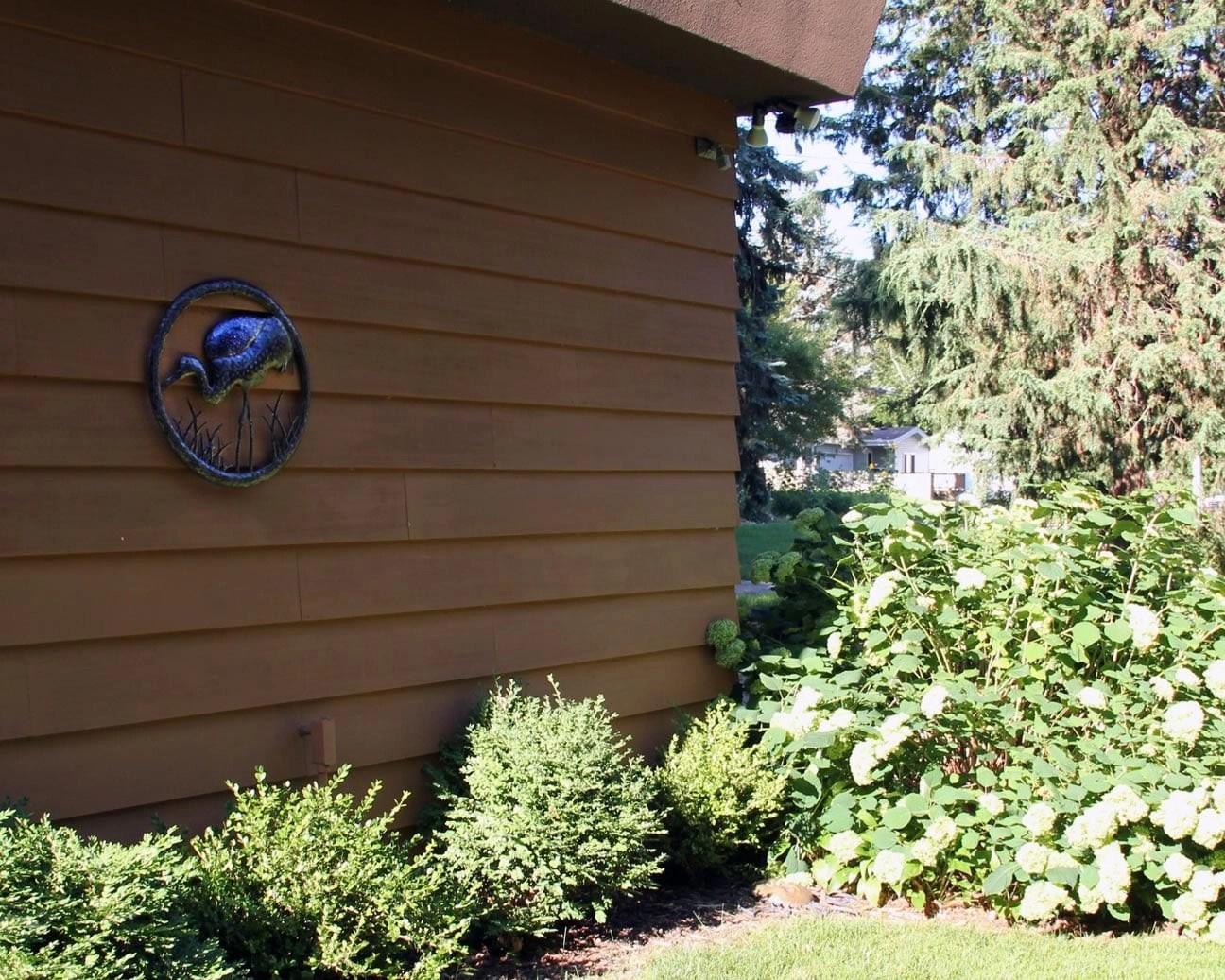 Buy Sandhill crane metal wall art online for your garden or home