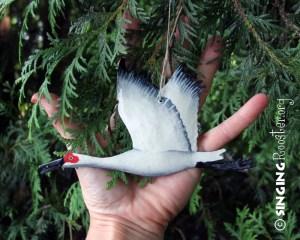 Christmas crane ornaments