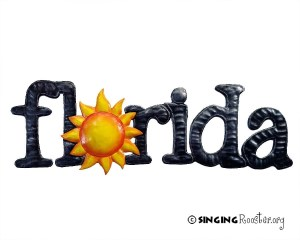 florida word art