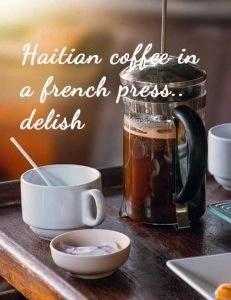 french press haiti coffee