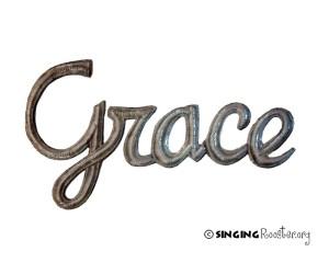 elegant word art, grace, Haiti