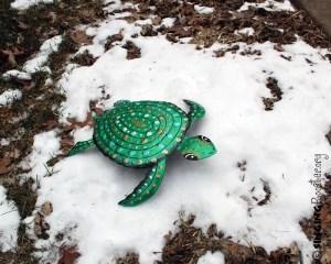 save green turtle art