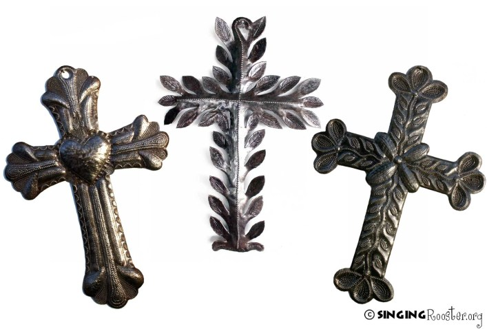 Metal Cross Wall Art from Haiti