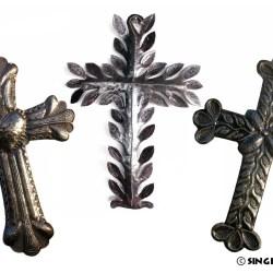 purchase Metal Cross Wall Art from Haiti
