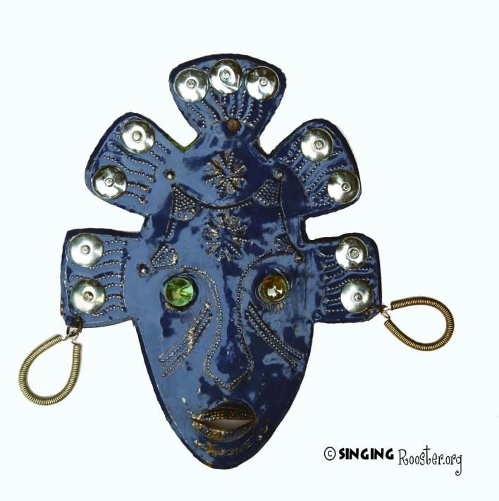 Metal Decorative Mask, Haitian Artist Eugene Jacques