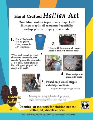 how is Haitian art made