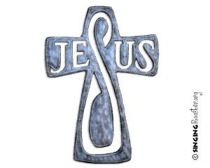 Jesus cross, handmade Haiti
