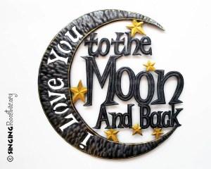 love you to the Moon wall art, Haiti
