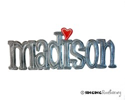 Madison word art from Haiti, Singing Rooster