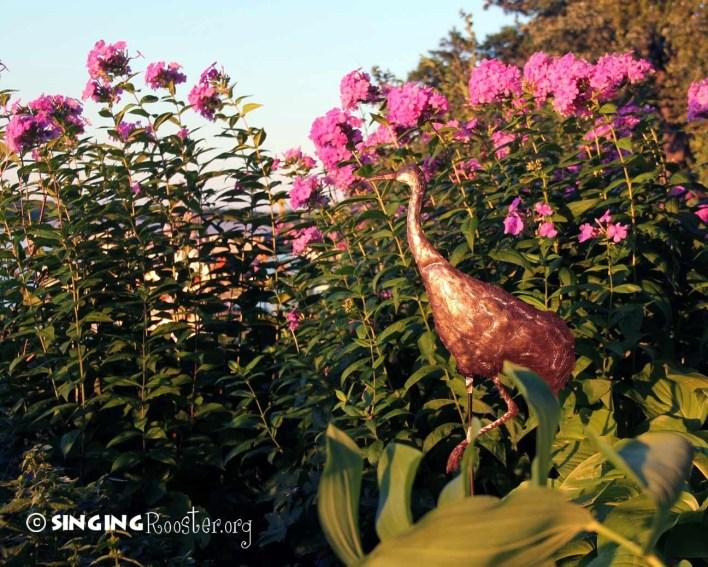 metal garden stake crane