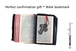 metal cross bible bookmark