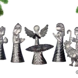 metal nativity haiti