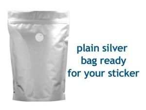 plain silver bag