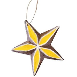 metal star ornament, Singing Rooster