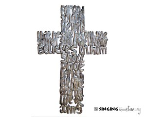 buy metal cross word wall art online