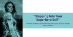 """""""Stepping Into Your Superhero Self"""" – Proactive, Problem- and Emotion-focused Coping Skills for Women New to Midlife"""