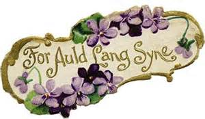 auld lang syne plaque