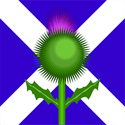 Scottish flag and Thistle