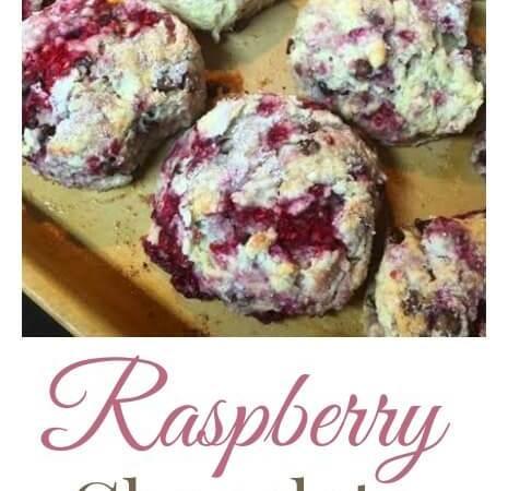 Raspberry Chocolate Chip Scones